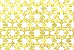 Yellow Geometric Islamic Pattern