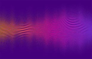 Wavy halftone style vibrant gradient design