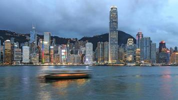 Hong Kong Island from Kowloon at dusk photo