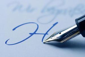 Writing fountain pen photo