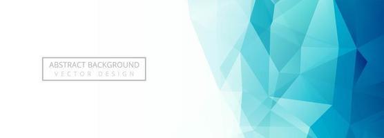 banner moderno polígono azul vector