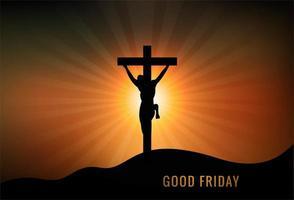 Fondo de buen viernes cristiano vector