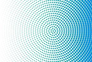 Fondo de círculo de puntos azules modernos