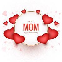 a melhor mãe feliz dia das mães fundo vetor