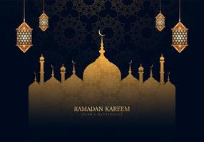 Ramadan Kareem Beautiful Patterned Mosque Silhouette
