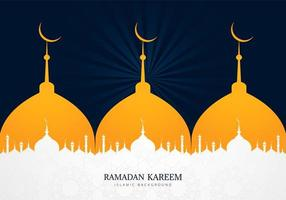Multiple Mosque Silhouette Ramadan Kareem Design
