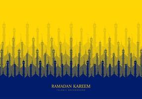 ramadan kareem repetindo fundo mesquita