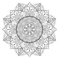 mandala de flores en estilo de contorno