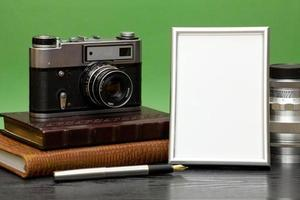 Vintage camera and photo