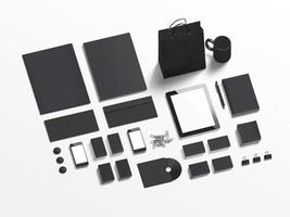 Black branding elements to replace your design photo