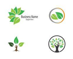 conjunto de logotipo de ecologia