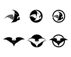 Fledermaus-Logo-Set vektor