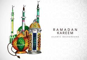 design de fundo aquarela ramadan