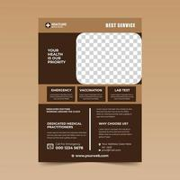 Light and Dark Bown Medical Flyer Design Template