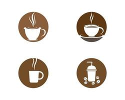 Coffe Cup Logo Set