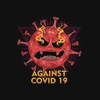 Against Covid 19 Germ Poster  vector
