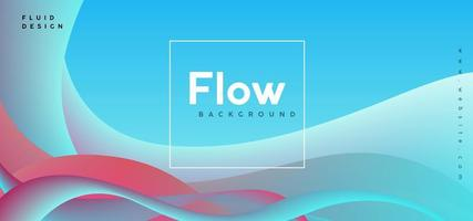 Colorful Flow Abstract Background vector