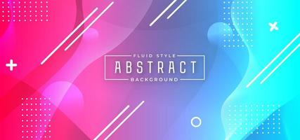 Colorful Dynamic Horizontal Banner Background
