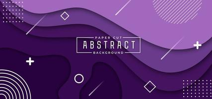 Purple Gradient Overlapping Shape Horizontal Banner vector