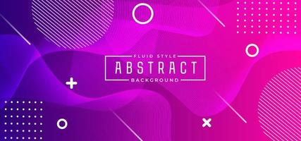 Pink and Purple Dynamic Shape Horizontal Banner