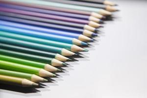 Line of pencils photo