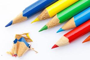 Color pencils abstract background
