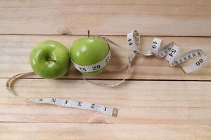 sports, fitness, recording, notepad, concept of weight loss, diet, nutrition photo