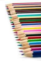 Colour pencils aligned photo