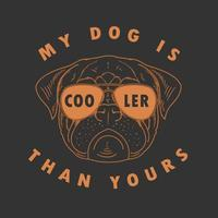 Pug with Sunglasses Design vector