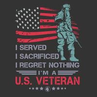 nosotros veterano diseño de carteles vector