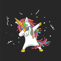 Dabbing Party Unicorn  vector