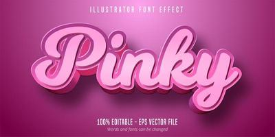 Pinky text, 3d editable font effect