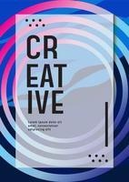 Modern business poster design template  vector