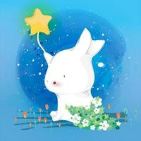 Bunny In The Sky vector