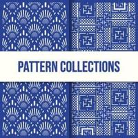 Seamless Pattern Two Door Design Collection