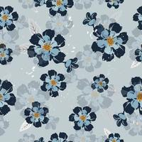 Vintage Navy Flower Pattern