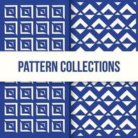 Seamless Pattern Two L Shapes Other Box Collection
