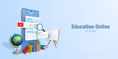 concepto de educación en línea vector