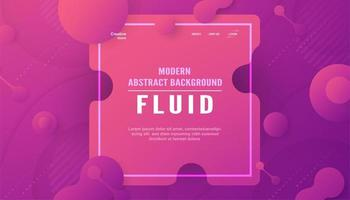 Modern abstract background in liquid and fluid style