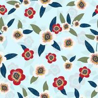 vintage floral sobre fundo azul