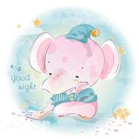 Good Night Elephant vector