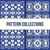 conjunto de patrones de textura de mosaico marroquí