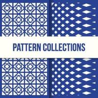 Set of Two Seamless Shape Patterns in Flat Design
