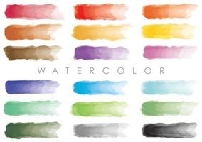 Rectangular Watercolor Backgrounds Isolated On A White Background.