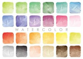 Set Of  Square Watercolor Backgrounds Isolated On A White Background.