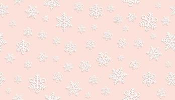 Seamless Pink Snow Background.