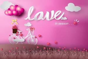 diseño de amor de San Valentín de papel