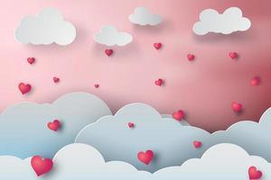 Paper Art Valentine Day Design  vector