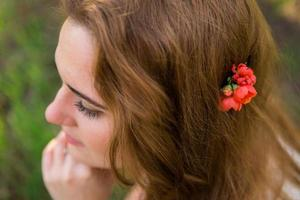 Bride in the spring garden