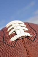 Close-up of American Football Texture and Laces photo